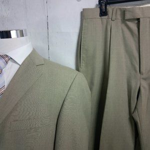 Haggar Suits & Blazers - Haggar Enterprise 42L 2 Button Tan 2pc Suit 32W